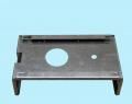 Крышка корпуса с выполнением пробивки пазов,отверстий и гибки, вид снизу.