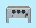 Корпус прибора с пробивкой пазов, отверстий и гибкой в ровных плоскостях.